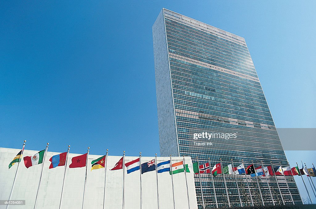 United Nations Building, New York City, United States of America : ストックフォト