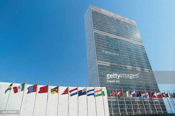 united nations building, new york city, united states of america - united nations building stock pictures, royalty-free photos & images