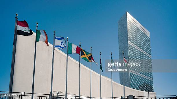united nations building, new york, usa - united nations building stock pictures, royalty-free photos & images