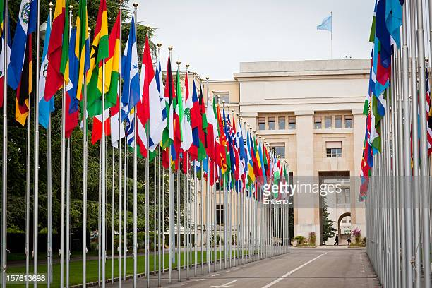 united nations building - united nations building stock pictures, royalty-free photos & images