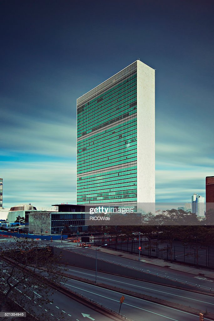 United Nations Headquarter in New York City : Stock Photo