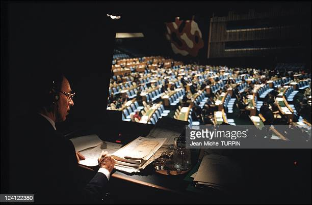 United Nations Headquarters in New York United States on November 14 1991 Translator at national assembly