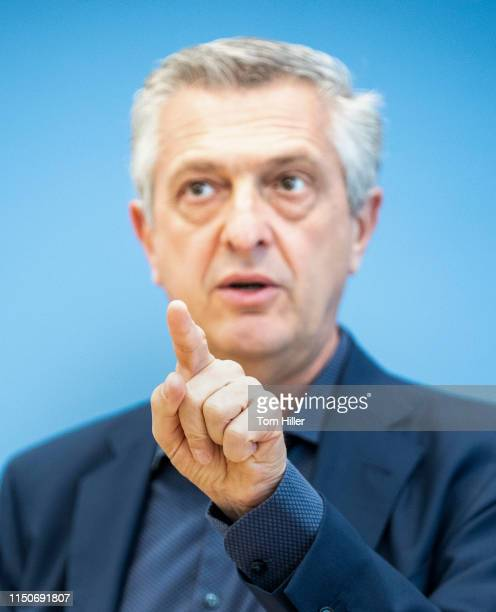 United Nations High Commissioner for Refugees Filippo Grandi is pictured during a press conference on July 19 2019 in Berlin Germany