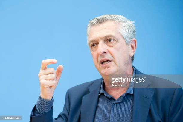 United Nations High Commissioner for Refugees Filippo Grandi is pictured during a press conference on June 19 2019 in Berlin Germany