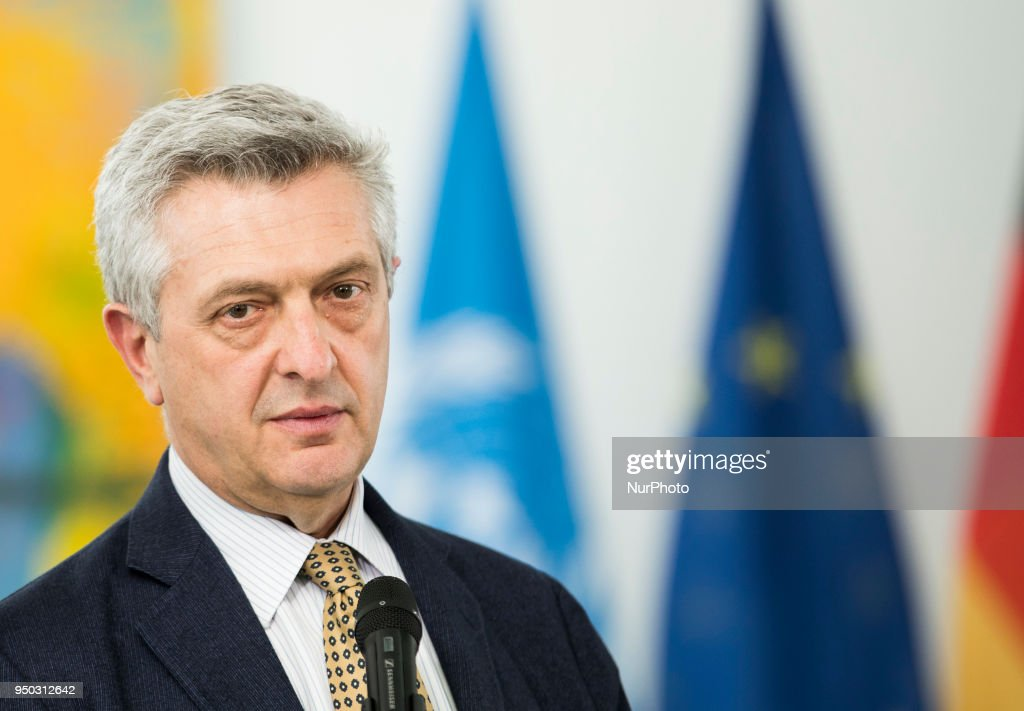 Angela Merkel meets United Nations High Commissioner for Refugees Filippo Grandi in Berlin