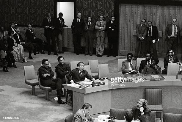 United Nations: In the second day of debate in the Security Council over the crisis in war-torn Cambodia and the right of the ousted Khmer Rouge...