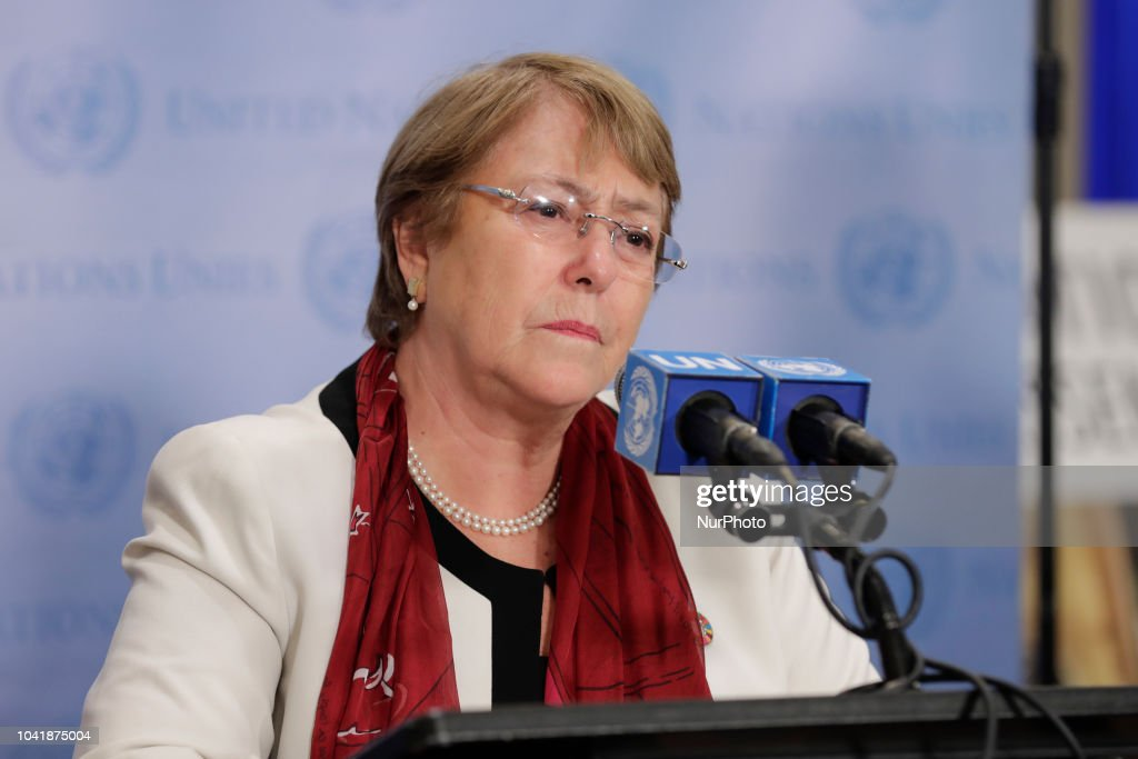 UN High Commissioner For Human Rights Briefs Press : News Photo