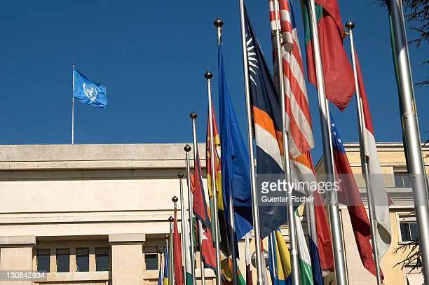 united nations organization geneva unog switzerland - 国際法 ストックフォトと画像