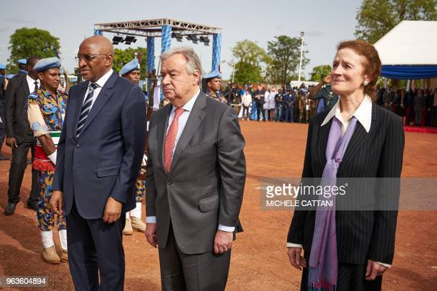 United Nations Secretary General Antonio Guterres , Malian Prime Minister Soumeylou Boubeye Maiga and Executive Director of the United Nations...
