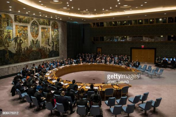 United Nations Secretary General Antonio Guterres speaks during a Security Council meeting on Nonproliferation of weapons of mass destruction at the...