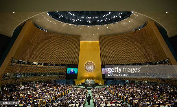 United Nations Secretary General Ban Ki-Moon opens the 69th United Nations General Assembly on September 24, 2014 in New York City. The annual event...