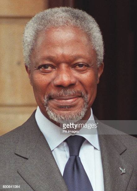 United Nations Secretary General Mr Kofi Annan outside Lancaster House in central London UN Secretary General Kofi Annan was set to deliver a lecture...