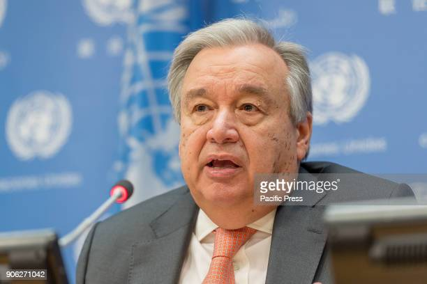 United Nations SecretaryGeneral Antonio Guterres spoke with the press at a briefing where he outlined and answered questions about his agenda for UN...