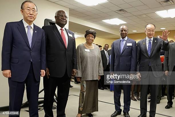 United Nations SecretaryGeneral Ban Kimoon Sierra Leone President Ernest Bai Karoma Liberia President Ellen Johnson Sirleaf Guinea President Alpha...