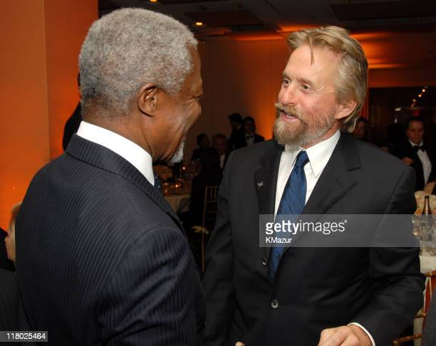 United Nations SecretaryGeneral Kofi Annan and Michael Douglas AdoptAMinefield's Night of a Thousand Dinners Benefit Committee Chair **Exclusive**