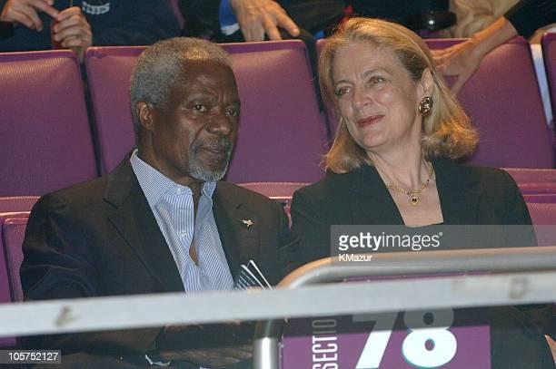 United Nations SecretaryGeneral Kofi Annan and Nane Annan