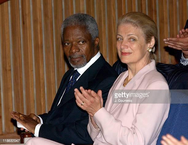 United Nations SecretaryGeneral Kofi Annan and wife Nane Annan
