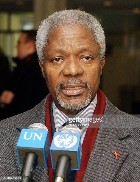 United Nations SecretaryGeneral Kofi Annan answers questions about Iraqi documents 09 December at UN headquarters in New York Documents outlining the...
