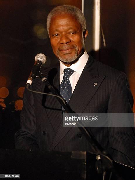 United Nations SecretaryGeneral Kofi Annan**Exclusive**