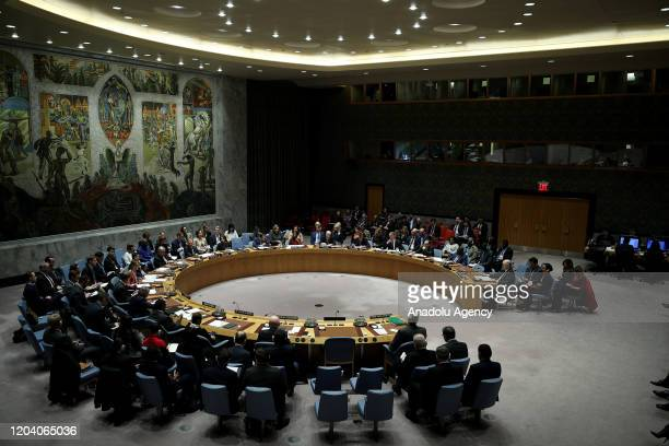 United Nations Security Council holds an urgent meeting on the recent escalation in the northwest of Syria in New York, United States on February 28,...