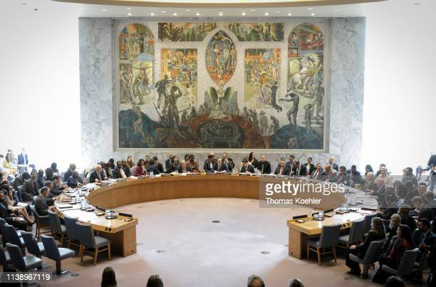 United Nations Security Council meeting at UN headquarters April 23 2019 in New York City Member nations of the Security Council are considering a...
