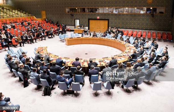United Nations Security Council meeting on Syria at the United Nations in New York