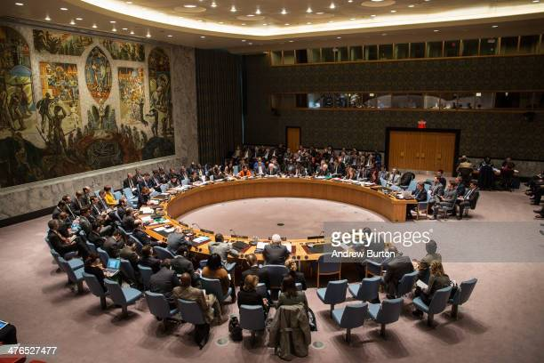 United Nations Security Council meeting takes place on March 3 2014 in New York City As tensions between Russian's occupation of parts of Ukraine...