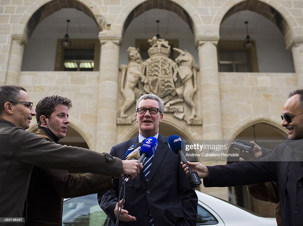 Alexander Downer UN Special Representative For Cyprus Holds Talks