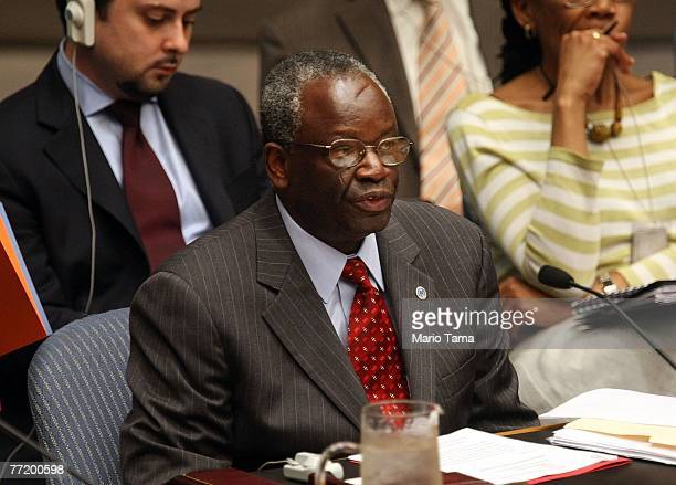 United Nations special envoy to Myanmar Ibrahim Gambari speaks during a UN Security Council meeting on the situation in Myanmar October 5 2007 in New...