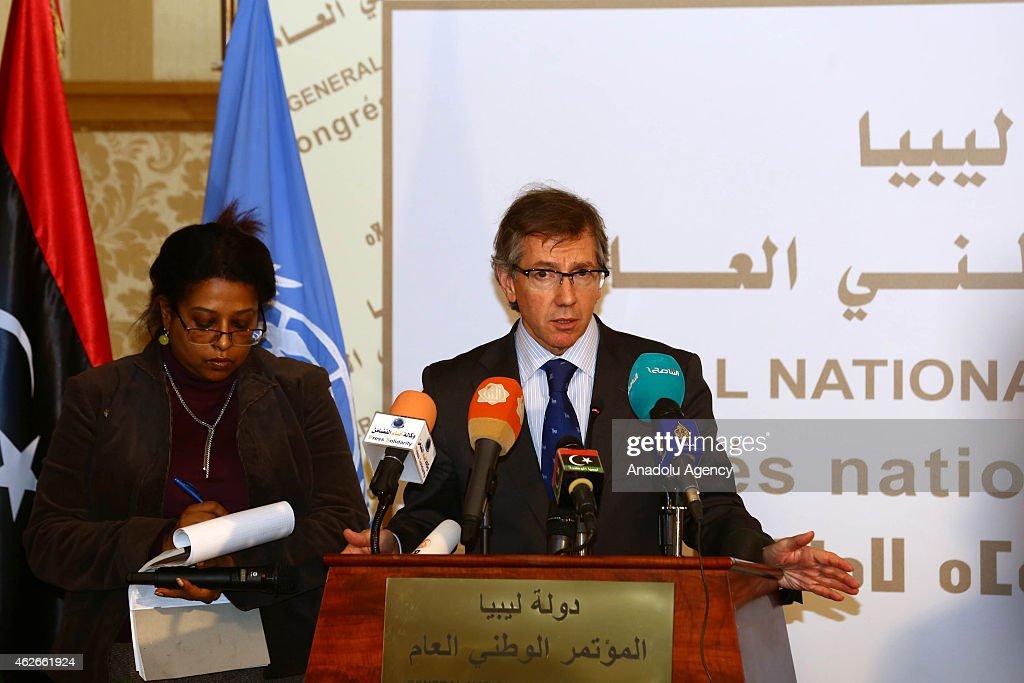UN Special Representative Bernardino Leon in Libya : News Photo