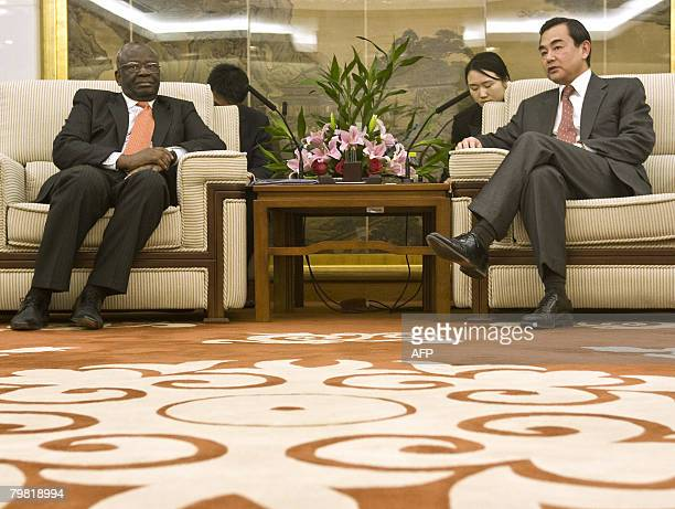 United Nations Under Secretary General and Special Envoy to Myanmar Ibrahim Gambari meets with Chinese Vice Minister for Foreign Affairs Wang Yi in...