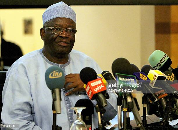 United NationsAfrican Union joint special representative Ibrahim Gambari speaks to the press in the Sudanese capital Khartoum on September 14 2011...