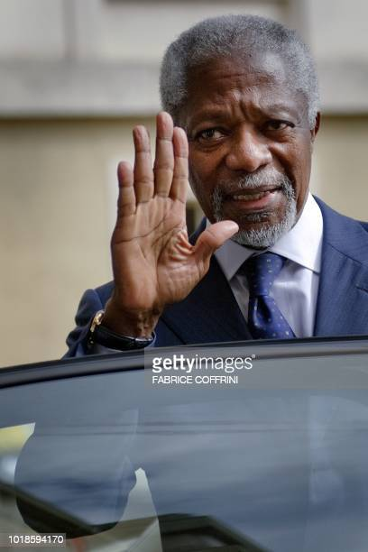 United NationsArab League envoy Kofi Annan gestures as he leaves on April 4 2012 the United Nations offices in Geneva Fierce clashes erupted after...