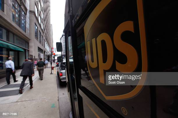 United Parcel Service Inc truck makes deliveries July 23 2009 in Chicago Illinois UPS today reported secondquarter income fell 49 percent on...