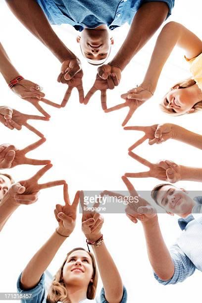 united people - handen ineengevouwen stockfoto's en -beelden