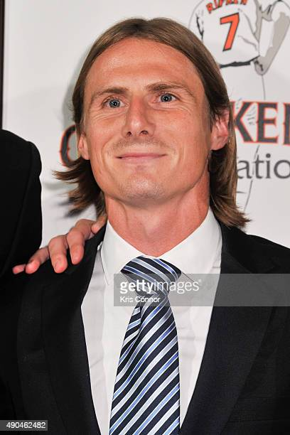 United player Chris Rolfe attends the Under The Lights A Gala Night With Kevin Spacey And Cal Ripken Jr Gala at Arena Stage on September 28 2015 in...