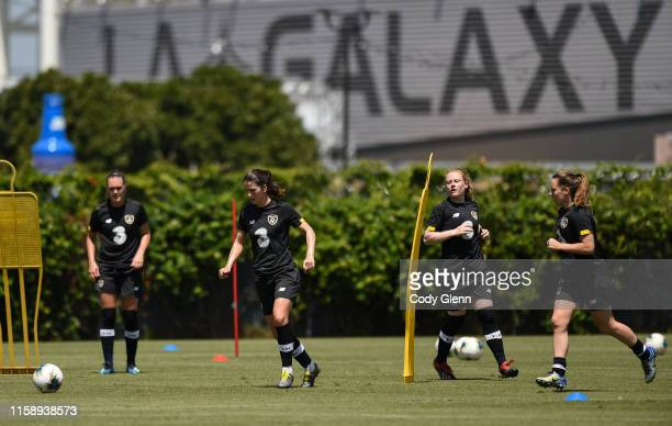 CALIFORNIA United States 1 August 2019 A general view during Republic of Ireland women's team training session at Dignity Health Sports Park in...