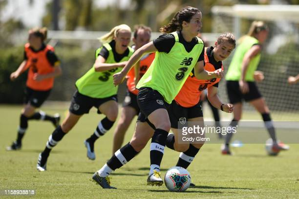 CALIFORNIA United States 1 August 2019 Niamh Fahey during a Republic of Ireland women's team training session at Dignity Health Sports Park in Carson...