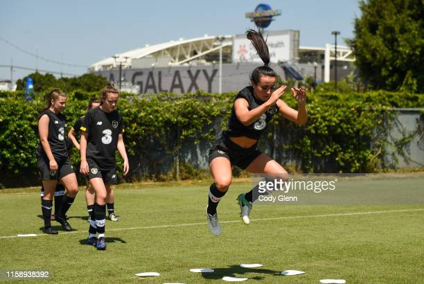CALIFORNIA United States 1 August 2019 Niamh Farrelly during a Republic of Ireland women's team training session at Dignity Health Sports Park in...