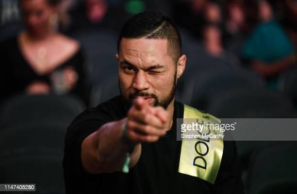 NEW YORK United States 1 June 2019 Heavyweight boxer Joseph Parker prior to the IBF WBA WBO IBO World Heavyweight Championship fight between Anthony...
