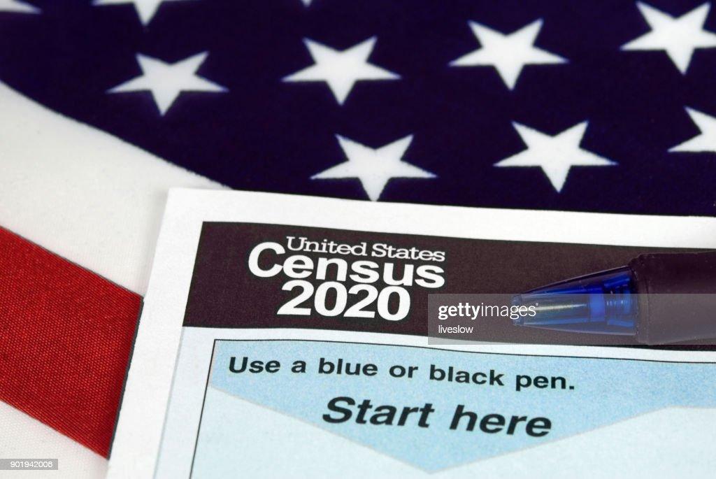 United States 2020 census form : Stock Photo