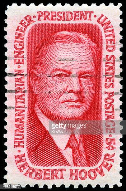 united states 31st president - herbert hoover stock photos and pictures