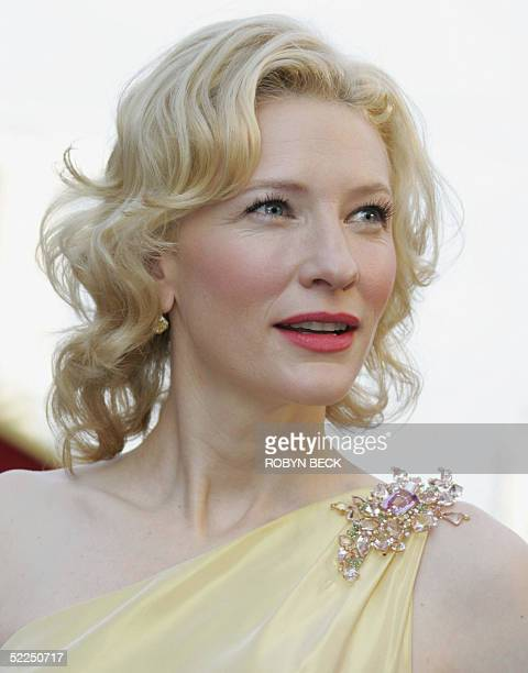 Actress Cate Blanchett nominated for Best Supporting Actress for her role in The Aviator arrives for the 77th Academy Awards 27 February at the Kodak...