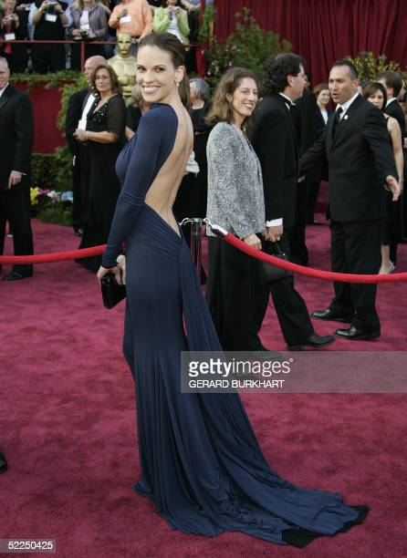 Actress Hilary Swank nominated for Best Actress for her role in Million Dollar Baby arrives for the 77th Academy Awards 27 February at the Kodak...