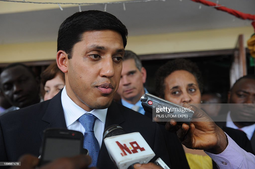 United States Agency for International Development (USAID) Adminstrator Rajiv Shah speaks at the Lagos Island Maternity Hospital after an inspection of health facilities sponsored by the agency in Lagos January 18, 2013. Shah is in Nigeria to meet with senior government officials to further USAID's collaboration with the government. He will also meet with leaders in private sector to discuss new opportunities for partnerships that can accelerate growth and development.
