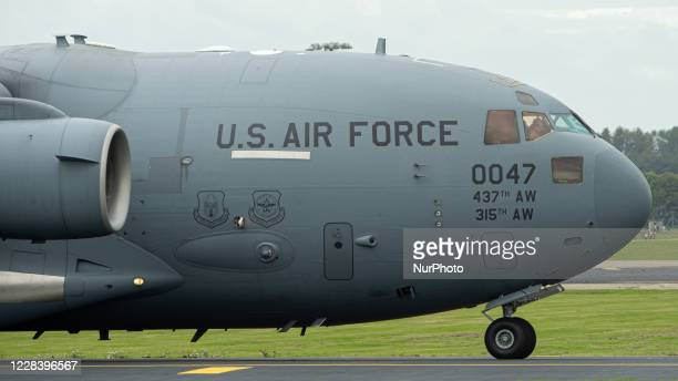 United States Air Force McDonnell Douglas C-17A Globemaster III at RAF Brize Norton, in Oxfordshire, England on 6 September 2020.