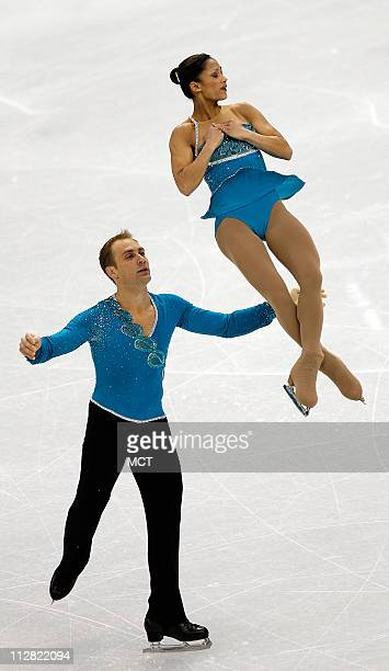 United States Amanda Evora and Mark Ladwig compete in the long pairs free figure skating program during the 2010 Winter Olympics in Vancouver British...