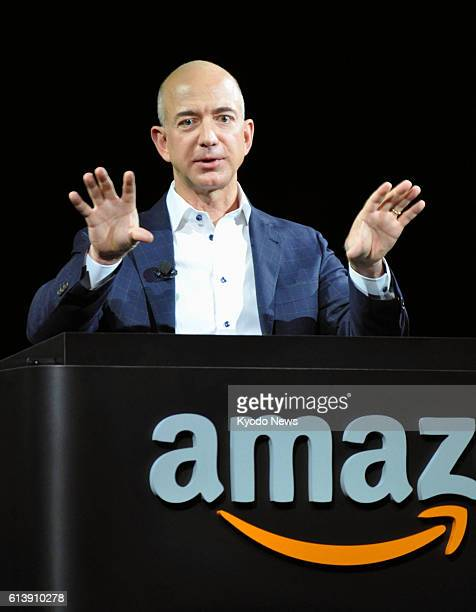 LOS ANGELES United States Amazoncom Inc CEO Jeff Bezos speaks during an event to release the Kindle Fire HD tablet in Santa Monica California on Sept...