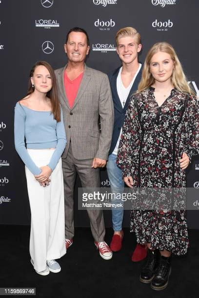 United States Ambassador to Germany Richard Grenell and family members attend the Atelier Michalsky show during the Berlin Fashion Week Spring/Summer...