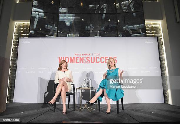 United States Ambassador to the UN Samantha Power and Managing Editor TIME Magazine Nancy Gibbs take part in the TIME And Real Simple's Annual Women...
